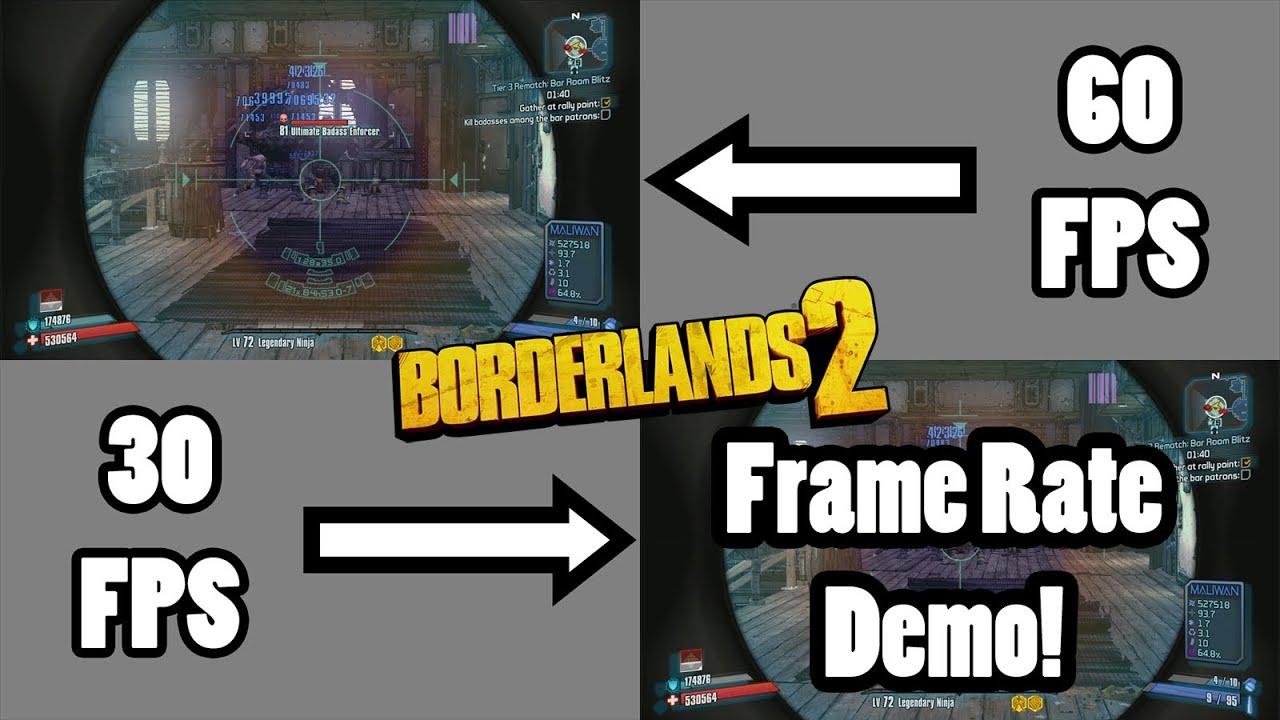 Borderlands 2: 30 vs 60 Frames per Second - YouTube