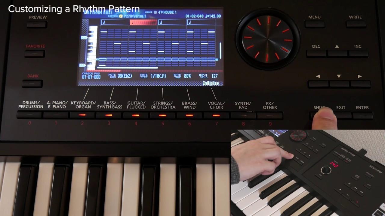 step recording rhythm in the sequencer roland fa 06 fa 07 fa 08 12 youtube. Black Bedroom Furniture Sets. Home Design Ideas