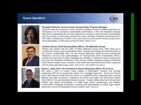 Webinar The Business of Pricing Carbon: How Companies are Preparing for Risks and Opportunities