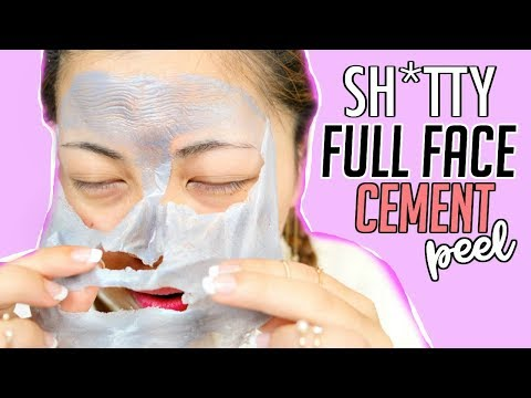 """CEMENT"" PEEL OFF MASK................. sure."