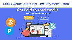 Clicks Genie | Get Paid To Read Emails - Earn Free Bitcoin & Usd 0.003 Btc Live Payment Proof Hindi