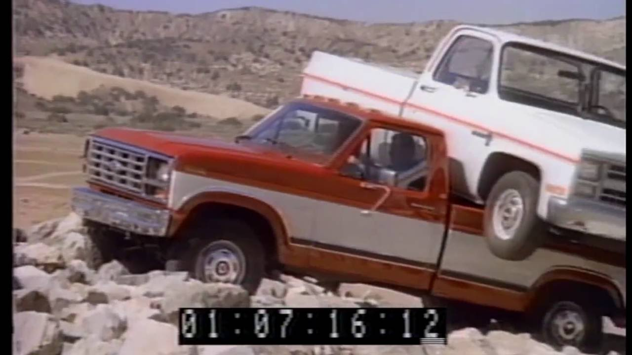20 rare ford pick up truck commercials from the 1980s f 150 and ranger classic car channel