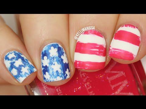 American Flag Nail Art Using Only A Toothpick! || KELLI MARISSA