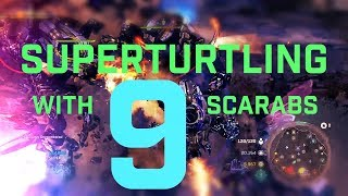 Halo Wars 2: Super Turtling with 9 Scarabs