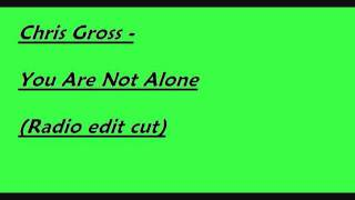Chris Gross - You Are Not Alone (Radio edit cut)