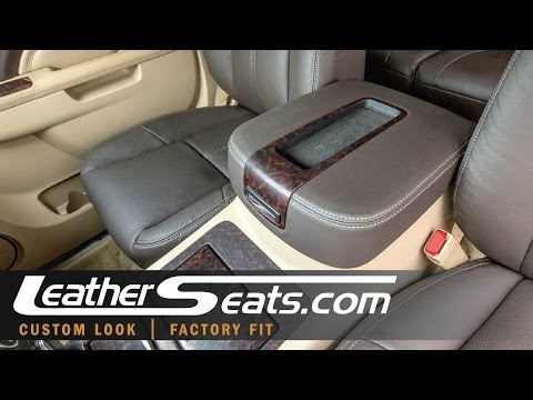 How To Install A GM Truck and SUV Center Console Lid Leather Cover - LeatherSeats.com