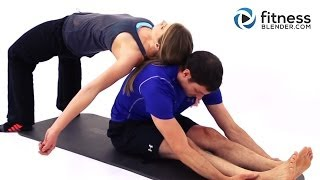Partner Yoga Workout - Feel Good Partner Stretches - Toning & Stretching Workout