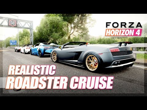 Forza Horizon 4 - Realistic Roadster Cruise! (w/New Cars)