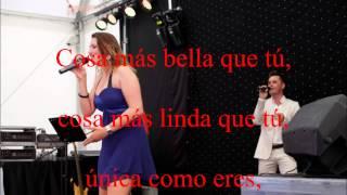 """Video Karaoke """"La cosa mas bella"""" Versión S. Dalma y Leire"""