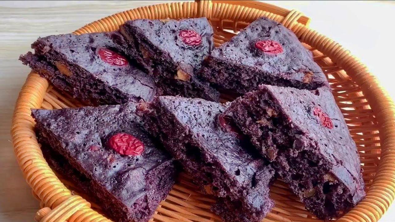 自製黑米棗糕,這個比例不粘不塌,蓬鬆暄軟,減肥隨便吃! 【廚娘小寧】