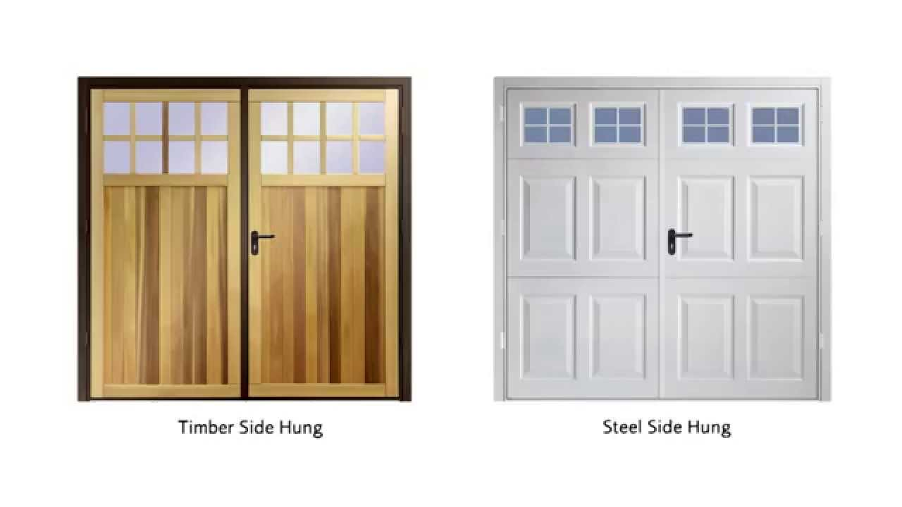 Garador Steel Side Hinged Garage Doors - YouTube