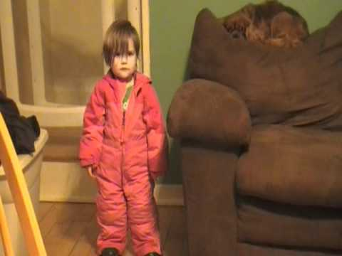 First time in snowsuit