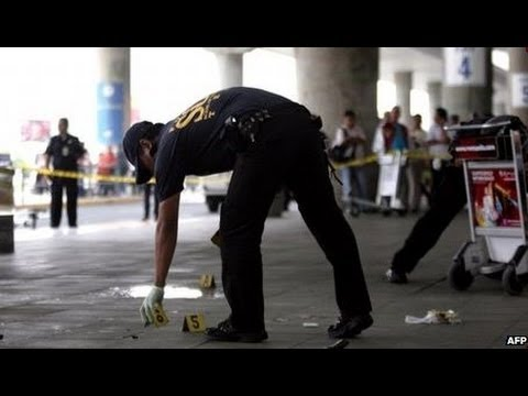 PHILIPPINES DEADLY SHOOTING AT MANILA AIRPORT - BBC NEWS