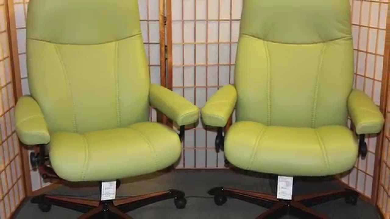 Stressless Consul Office Chairs  Many Colors In Stock At Unwind.com    YouTube