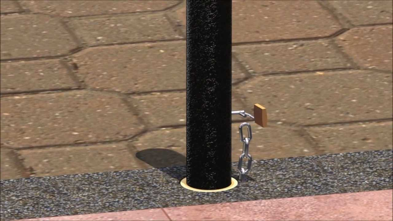 Installing Removable Bollards With Embedded Receivers And