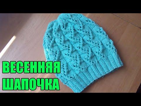 Связать спицами ажурную шапочку для девочки