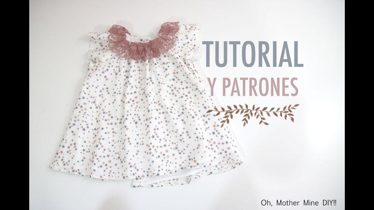 Costura: Vestido para niñas manga ranglan (patrones gratis) - YouTube