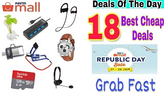{21Jan} 18 Cheap Paytm mall Deals On Republic Day Sale to Grab Fast.