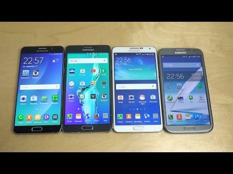 Samsung Galaxy Note 5 vs. Note 4 vs. Note 3 vs. Note 2 - Benchmark Speed Test! (4K)