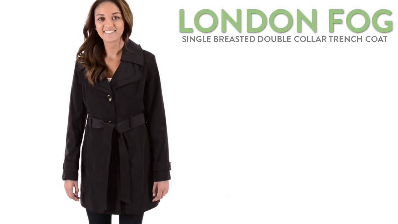 London Fog Double-Collar Trench Coat (For Women) - London Fog Double-Collar Trench Coat (For Women) - YouTube