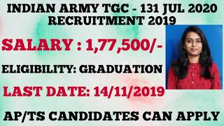 Apply online for INDIAN ARMY TGC 131 JUL 2020  Latest job updates