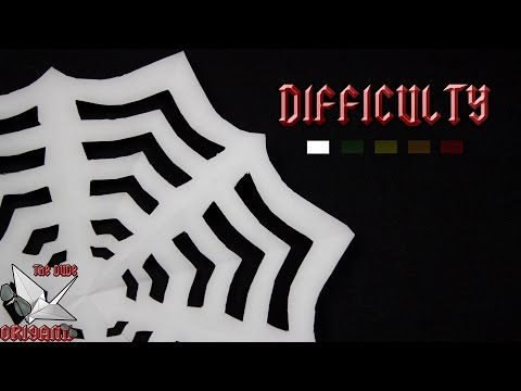 *HALLOWEEN PAPERCRAFT* || Making a Spider Web With 1 Sheet Of Paper