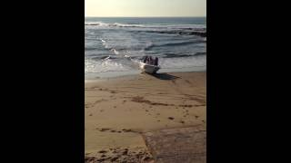Boat beaching South Africa Shelly Beach