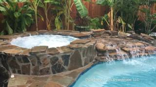Swimming Pool and Spa by Caribbean Pools and Landscape