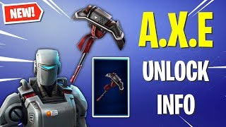 The HUNTING PARTY PICKAXE Information! *How To Get A.X.E* (Fortnite)