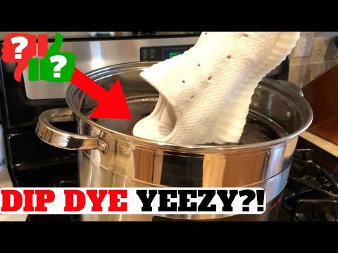 $10 DIP DYE YEEZY TUTORIAL! (YEEZY BOOST 350 V2 TRIPLE WHITE)