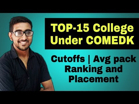 Top 10 College COMEDK 2020 | Comedk Rank Vs College | Placemen And Cutoffs | Comedk Counseling 2020