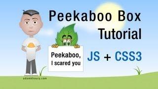 Peekaboo Box Tutorial Scroll Bottom JavaScript CSS3 transition HTML5 Animation