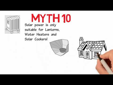 Myth 10 Solar power is only suitable for Lanterns, Water Heaters and Solar Cookers!