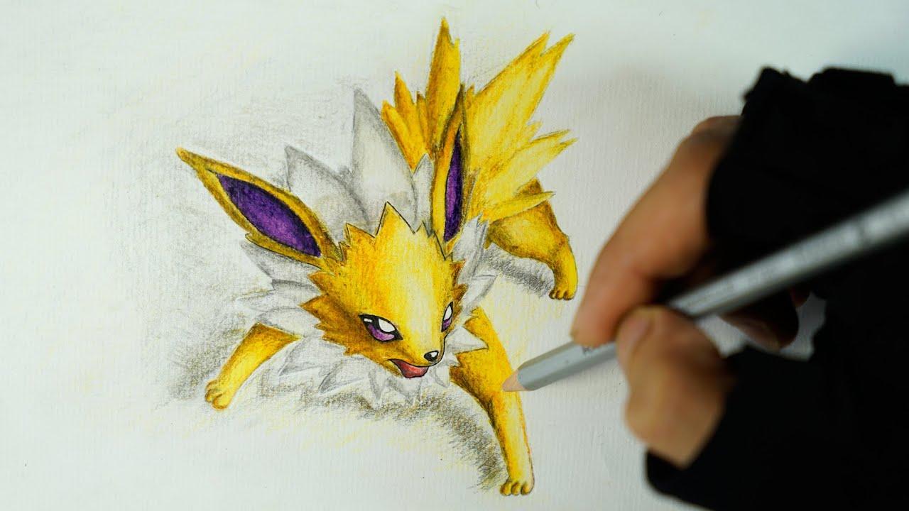 Eeveelutions - Speed drawing Jolteon - Pokemon (Shin Art ...