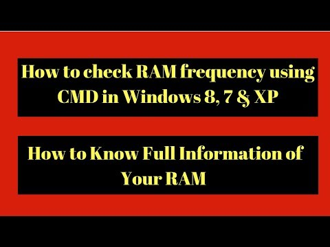 How To Know RAM Details Or RAM Frequency From Command Line In Windows