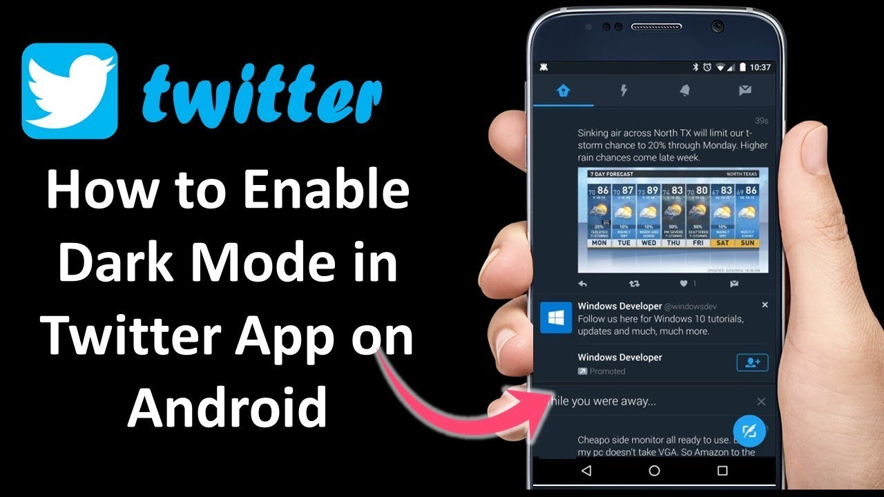 How to Enable Dark Mode in Twitter App in Android 2019