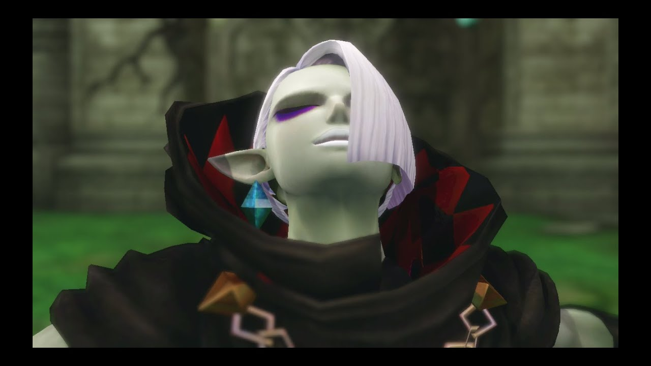 Hyrule Warriors Demon Lord Ghirahim Intro Victory Pose And Chest Opening Cutscenes Mq Costume Youtube