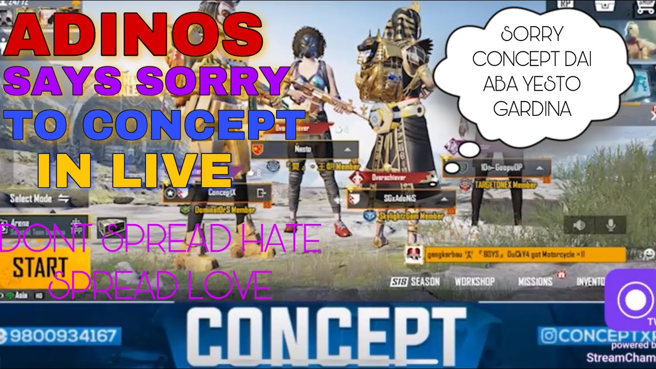 Download Concept Vs Adinos Controversy Ended! Adinos says sorry to concept! Must Watch! Spread love ❤️