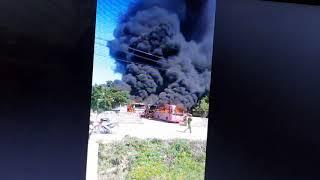 Cháy bãi xe không biết nguyên nhân thiệt hại lớn cho chủ bãi