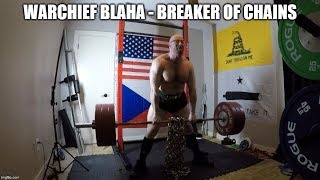 5-23-2019 Orc Mode Training - Dynamic Effort Chain Box Squat, Sumo Deadlift, Rows & Belt Squats