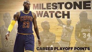 Milestone Watch: LBJ passes MJ for top playoff scorer