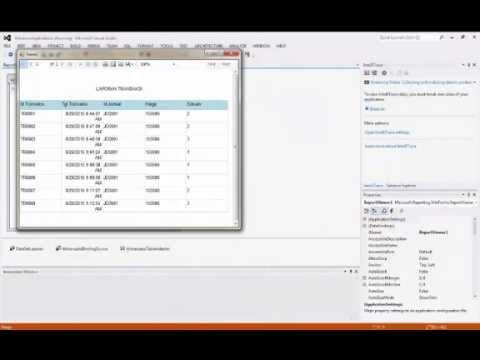 Cara Membuat Laporan Vb Net 2012