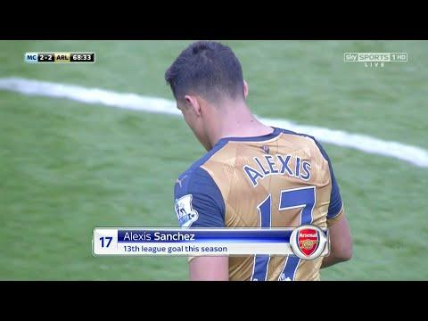 Alexis Sanchez vs Manchester City (Away) 15-16 HD 720p - English Commentary