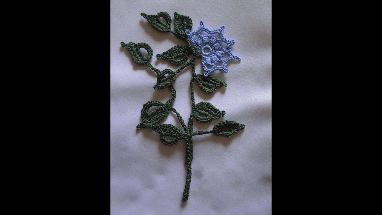 Motiv 3*Applikation häkeln*Spitze Häkel* irish lace crochet Tutorial ...