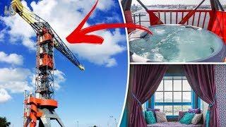 Отель в Строительном Кране с Джакузи на Высоте 17 Метров Самые Странные и Необычные Гостиницы в Мире