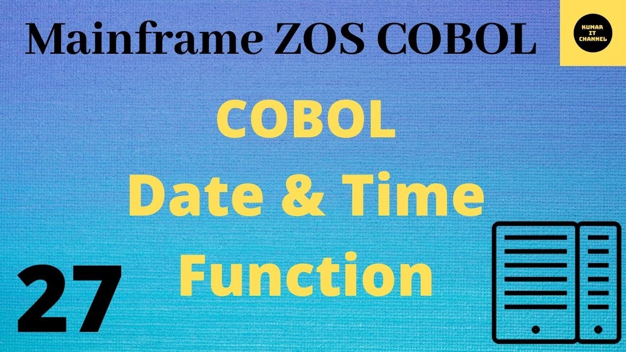Mainframe - Cobol practical tutorial using date time functions