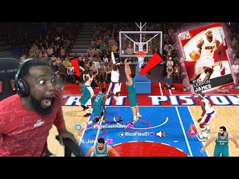 PINK DIAMOND LEBRON DUNKED ON 3 DEFENDERS vs TRASH TALKER! NBA 2k19 MyTeam thumbnail