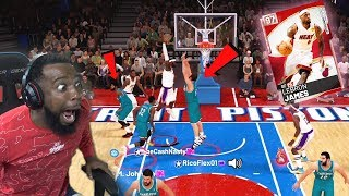 PINK DIAMOND LEBRON DUNKED ON 3 DEFENDERS vs TRASH TALKER! NBA 2k19 MyTeam