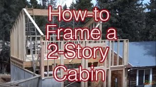 How To Frame A Simple 2-story Cabin Addition