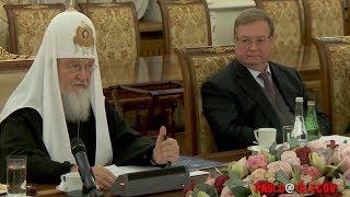 Патриарх Кирилл: То что вытворяет Порошенко недопустимо ни в одном европейском государстве!